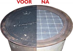 Roetfilter reinigen voor en na